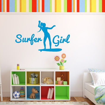 Surfer Girl Vinyl Wall Decal 22437