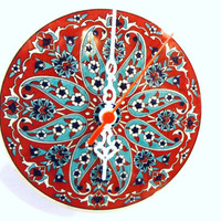 Wall Clock, Mothers Day Gifts, 2012, Ceramic, Turkish tiles, Anatolian and Ottoman patterns