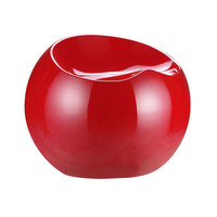 Bite of the Apple Stool in Red