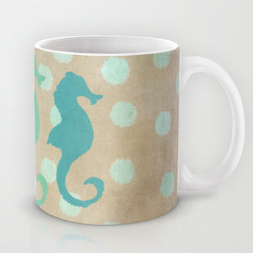 Seahorse Trio and Polka Dots Mug by Lisa Argyropoulos | Society6