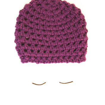 "The ""Halifax"" Crochet Hat - Purple - Custom Requests Accepted"