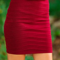 Anything But The Usual Skirt-Merlot