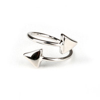 Polished Arrow Ring - Silver Rings at Pinkice.com