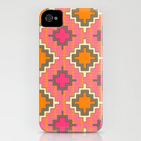 tangerine kilim iPhone Case by Sharon Turner | Society6