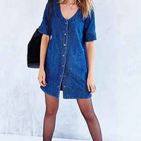 BDG Ruth Baseball Denim Dress - Urban Outfitters
