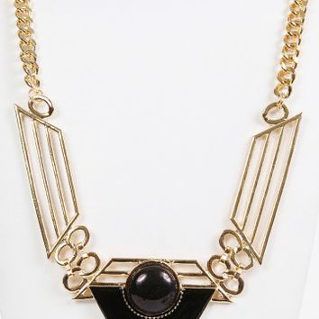 Gem Triangle Tribal Necklace | MakeMeChic.com