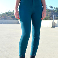 High Rise Skinnies - Deep TEal | Shop Civilized