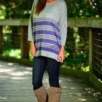 Stripe Out Sweater, Blue