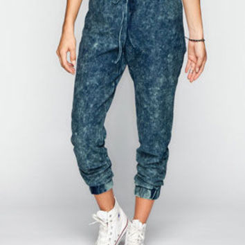 Almost Famous Crave Fame Womens Knit Denim Jogger