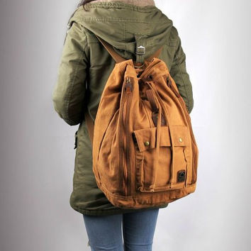 Canvas Travel Rucksack Backpack