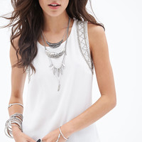 Beaded Crepe Top