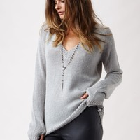 SNUG KNIT V-NECK SWEATER
