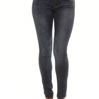 Five Pocket Stretchy Jeans - Dark Blue
