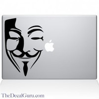 V for Vendetta Guy Fawkes Mask Macbook Decal