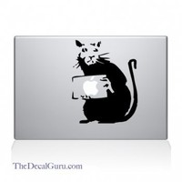 Banksy Rat Macbook Decal