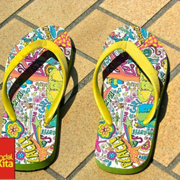 Flip Flops - Pattern pop art