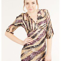 Medium sleeve dress @ KiwiLook fashion
