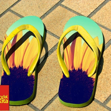 Flip Flops - Sunflower Cute Flower