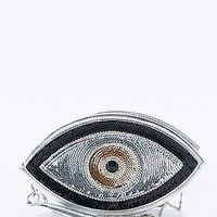 Sunita Mukhi Eye Envelope Clutch in Black and Silver - Urban Outfitters