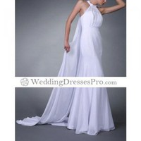 Trumpet / Mermaid Halter Watteau Train Chiffon Satin Wedding Dress (TTM024) [TTM024] - $122.99 : wedding fashion, wedding dress, bridal dresses, wedding shoes