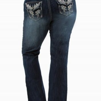 ZCO FLARE WING BACK FLAP JEANS