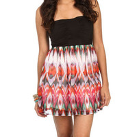 Strapless 2fer Ikat Dress | Shop Dresses at Wet Seal