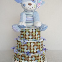 Mary Meyer Woof Woof Puppy Diaper Cake - baby boy - unique baby gift