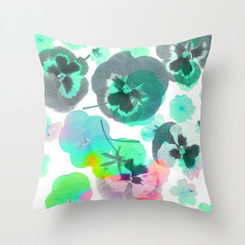 Flowering #2 Throw Pillow by Ornaart