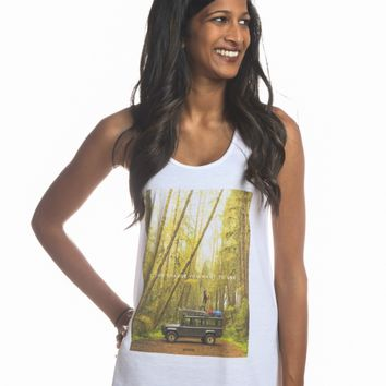 """Into The Woods"" Women's Flowy Racerback Tank"