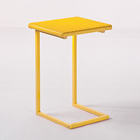 Yellow All-Weather Wicker Laptop Table