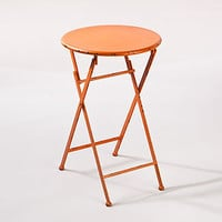 Orange Folding Metal Accent Table