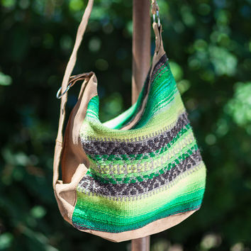 Handmade ladies shoulder bag, handbag, purse you can wear as backpack - handwoven