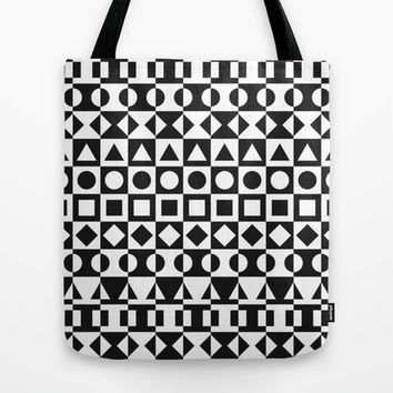 Black And White Tote Bag by Ornaart