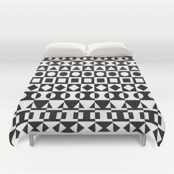 Black And White Duvet Cover by Ornaart