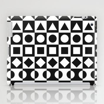 Black And White iPad Case by Ornaart