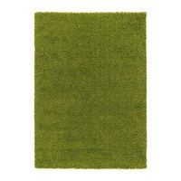 HAMPEN Rug, high pile - bright green, 4 ' 4