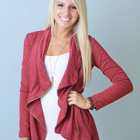 World Traveler Jacket (Red) - Piace Boutique