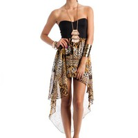 high-low-baroque-tube-dress BLACKGOLD - GoJane.com