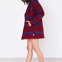 Numph Brushed Plaid Lucy Coat - Urban Outfitters