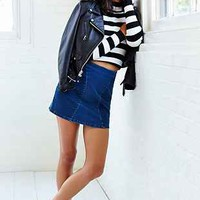Jagger Wild Stitched Denim Mini Skirt - Urban Outfitters