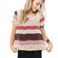 Papaya Clothing Online :: 3-button Lacy top