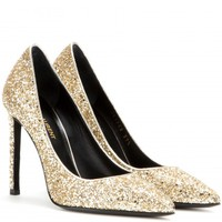 saint laurent - paris glitter pumps