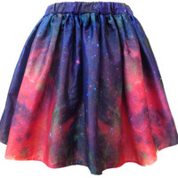 Milky Way Galaxy Space Skirt