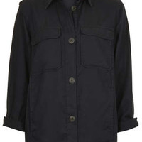 Lightweight Shirt Jacket - Black