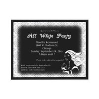 All White Attire Theme Party Invitation from Zazzle.com