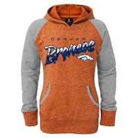 Denver Broncos French Terry Burnout Hoodie - Girls 7-16