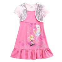 Disney Frozen Mock-Layer Anna & Elsa Dress - Girls 4-6x