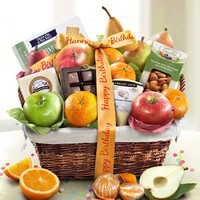Birthday Deluxe Fruit Gift Basket