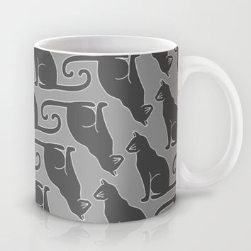 Curly Cat Mug by tzaei | Society6