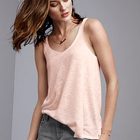 Double-V Tank - Textured Tees - Victoria's Secret
